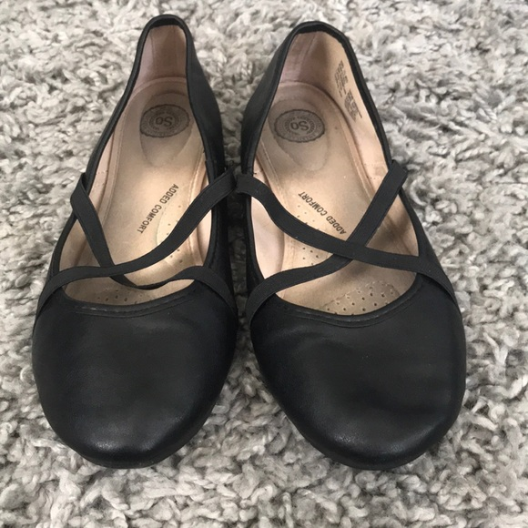 SO Shoes - So Black flats
